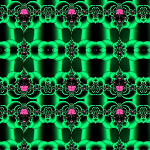 Fractal:  Green Satin Surprise