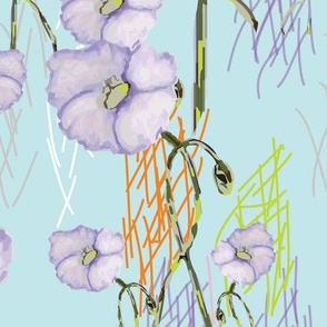Lavender Buds (from the Poppy Ribbons collection - aqua)