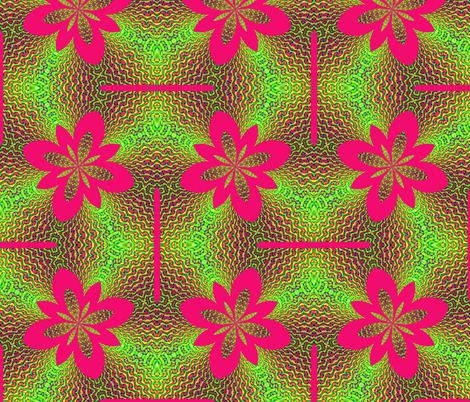 Fractal: Electrified Neon Pink Flowers fabric by artist4god on Spoonflower - custom fabric