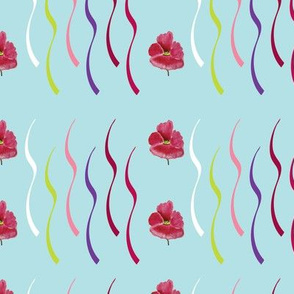 Confetti Ribbons (from the Poppy Ribbons Collection - aqua)