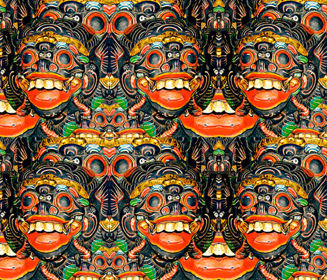 Barong, life long protector fabric by whimzwhirled on Spoonflower - custom fabric
