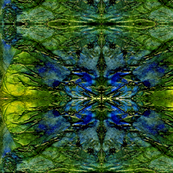 Wings - Abstract in Green and Blue Tones