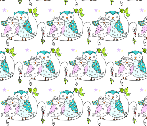 Mother & Owlet fabric by south4winter on Spoonflower - custom fabric