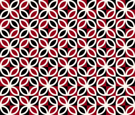 African Mudcloth Red and Black 1 fabric by julia_designs on Spoonflower - custom fabric