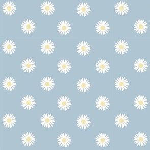 Quilted Daisies - Blue