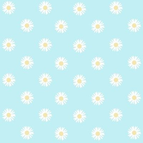 Quilted daisies - turquoise