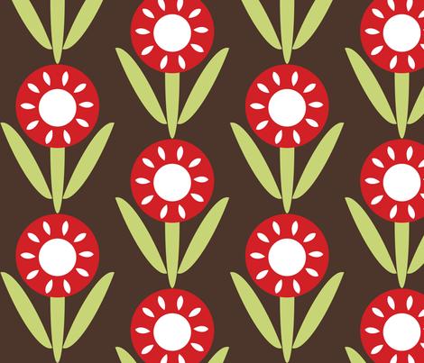 Flower fabric by owlandchickadee on Spoonflower - custom fabric