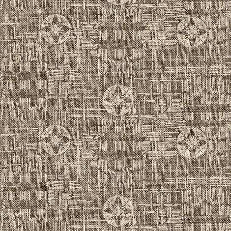 crossflower - espresso and cream fabric by materialsgirl on Spoonflower - custom fabric