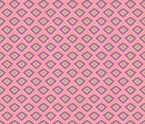 Aztec Fiber (pink flamingo) fabric by biancagreen on Spoonflower - custom fabric