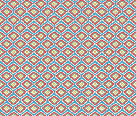 Aztec Fiber (red blue) fabric by biancagreen on Spoonflower - custom fabric