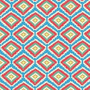Aztec Fiber (red blue)