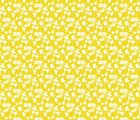 Little Smile - Yellow and White fabric by allieh on Spoonflower - custom fabric