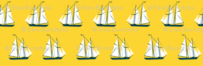 sailing ships - yellow