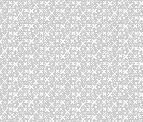 X - gray fabric by kristinnohe on Spoonflower - custom fabric