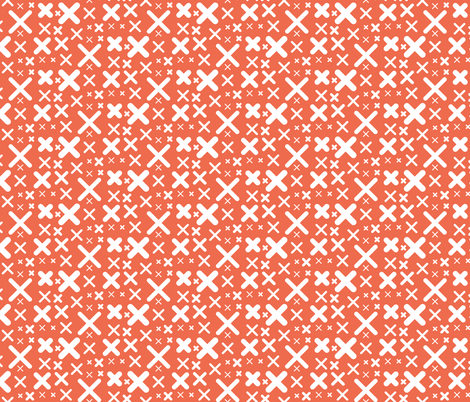 X - red fabric by kristinnohe on Spoonflower - custom fabric
