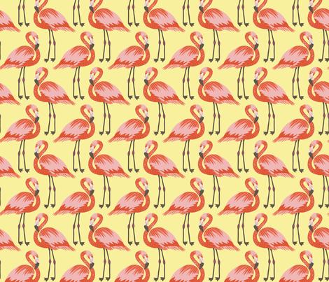 flamingos  fabric by kristinnohe on Spoonflower - custom fabric