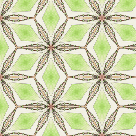 Celeriac Green Diamonds fabric by siya on Spoonflower - custom fabric