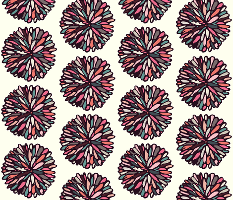 Retro Light Dahlia (Large) fabric by beththompsonart on Spoonflower - custom fabric