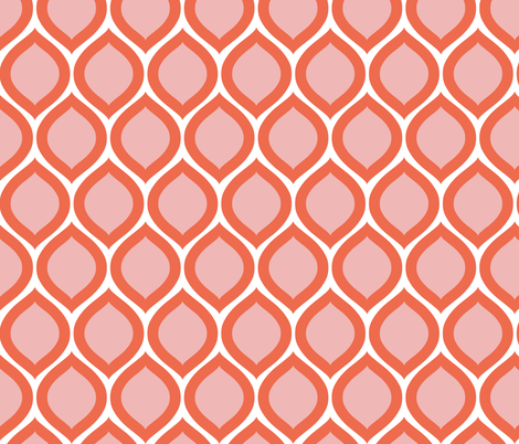 ogee - pink and red fabric by kristinnohe on Spoonflower - custom fabric