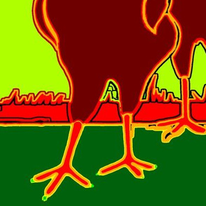 polish_chickens_art_warm_green