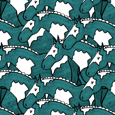 Painted Horses fabric by pond_ripple on Spoonflower - custom fabric
