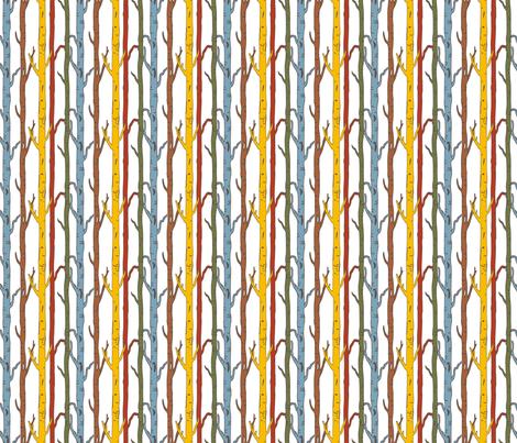 Birches_Blue fabric by lana_gordon_rast_ on Spoonflower - custom fabric