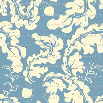 Leaves___Acorns_Blue