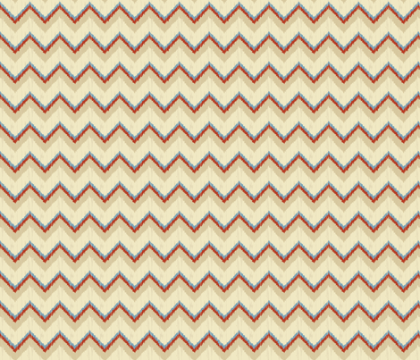 Nature_Chevron_Blue fabric by lana_gordon_rast_ on Spoonflower - custom fabric