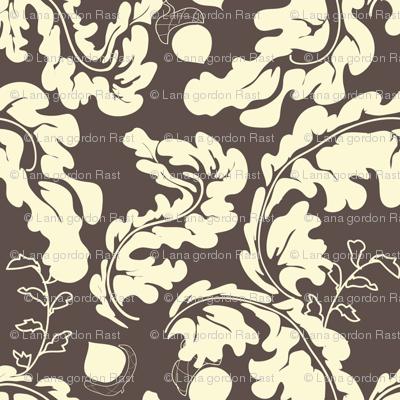 Leaves___Acorns_Brown