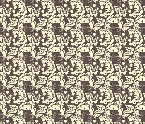 Leaves___Acorns_Brown fabric by lana_gordon_rast_ on Spoonflower - custom fabric