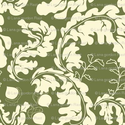 Leaves___Acorns_Green