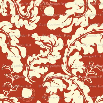 Leaves___Acorns_Red
