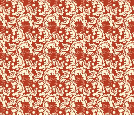 Leaves___Acorns_Red fabric by lana_gordon_rast_ on Spoonflower - custom fabric