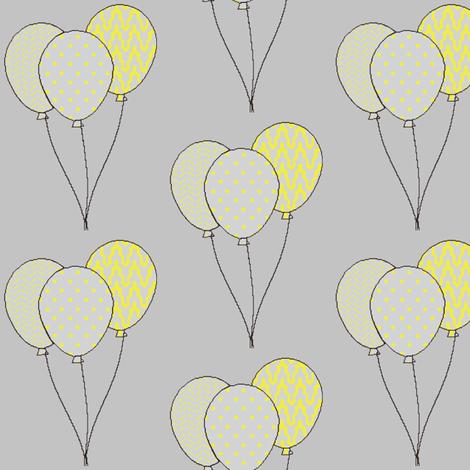 Yellow birthday balloons fabric by mezzime on Spoonflower - custom fabric