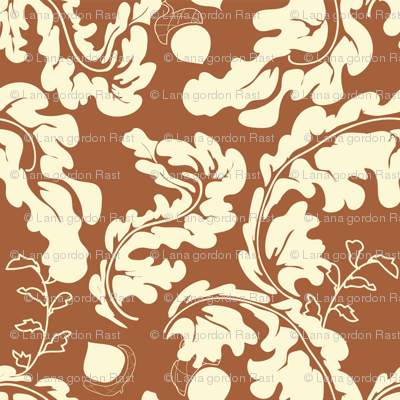 Leaves___Acorns_Rust