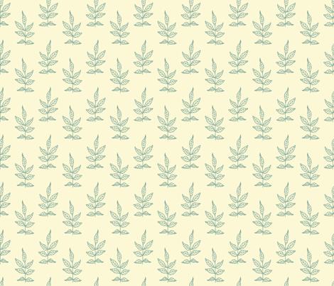 Leaves_Soft Aqua fabric by lana_gordon_rast_ on Spoonflower - custom fabric