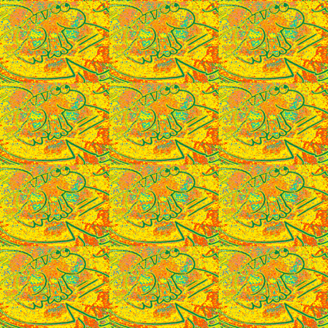 Reggie the Rainbow Frog fabric by winterblossom on Spoonflower - custom fabric