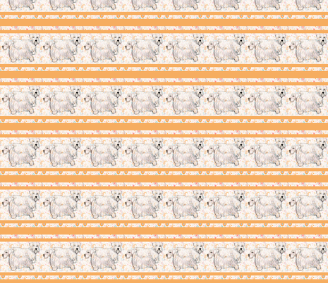sealyham_terriers_with_border fabric by dogdaze_ on Spoonflower - custom fabric