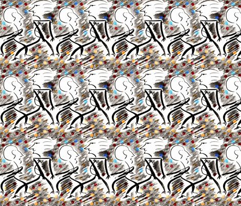 Scribble Dancers fabric by telden on Spoonflower - custom fabric