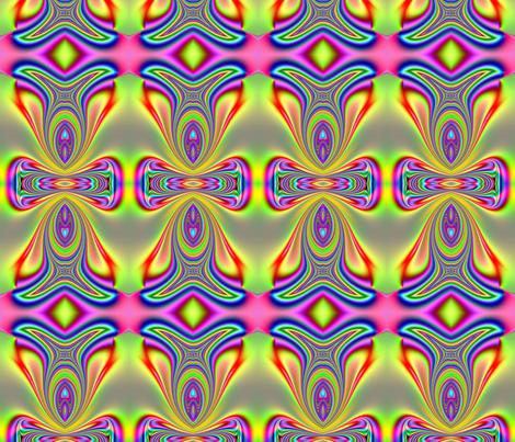 Fractal: Rainbow Colored Sunfish fabric by artist4god on Spoonflower - custom fabric