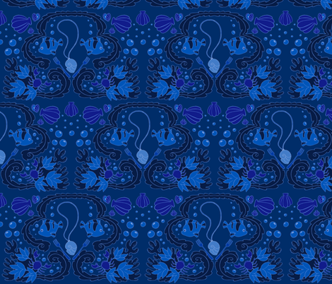 Under the Sea Damask fabric by aimee on Spoonflower - custom fabric