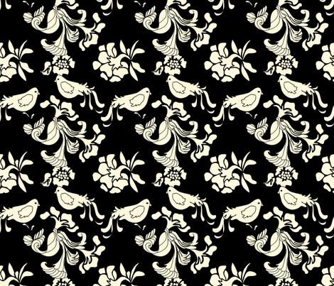 Hannah_La_Chance_Birds fabric by lana_gordon_rast_ on Spoonflower - custom fabric
