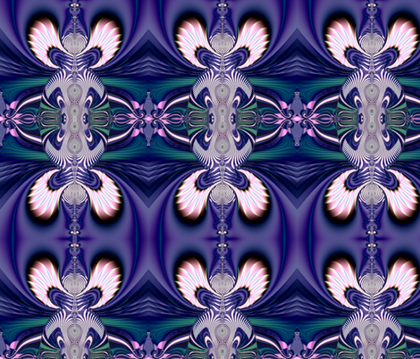 Fractal: Pink and Blue Guardian Angels fabric by artist4god on Spoonflower - custom fabric