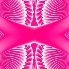Fractal:  Pink Swan Wings