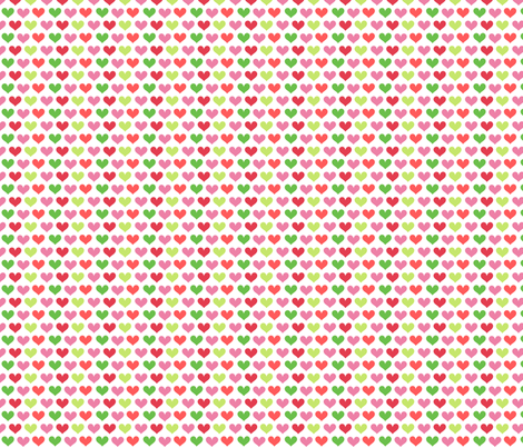 Sweet Hearts! - Summertime Fun! - Watermelon - © PinkSodaPop 4ComputerHeaven.com fabric by pinksodapop on Spoonflower - custom fabric