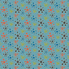 Atomic chevron blue