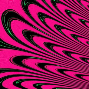Fractal: Fuchsia Angel's Wings