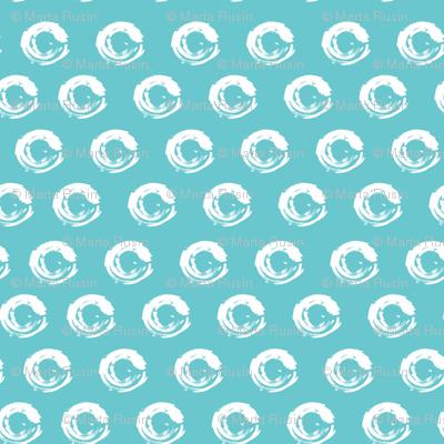circles on blue