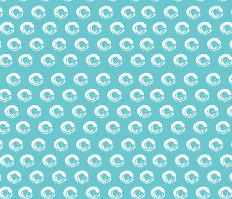 circles on blue fabric by kociara on Spoonflower - custom fabric