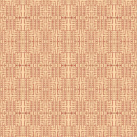 edo bead - pink, red, beige fabric by materialsgirl on Spoonflower - custom fabric